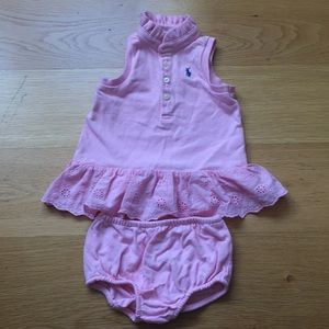 Ralph Lauren baby girl set. Size 3m